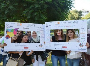 الجمعية تدشن مشاركتها بمهرجان الشام بتجمعنا بفعاليات مميزة
